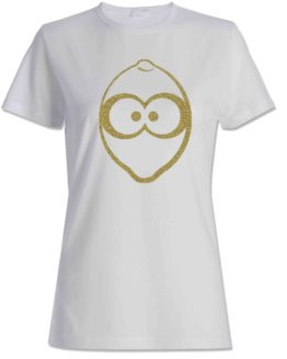 T-shirt bianca donna con logo in glitter Limelito LIME
